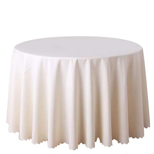 TIMLand Tischdecke Wearable Durbale Lightweight 6,56 Fuß Protecive Round Table Cover für Hochzeitsbuffet Tischpartys (Round Table Cover Elastisch)