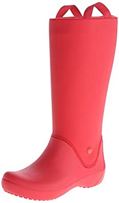 Crocs Rainfloe, Women's Rain Boots, Red, 5 UK