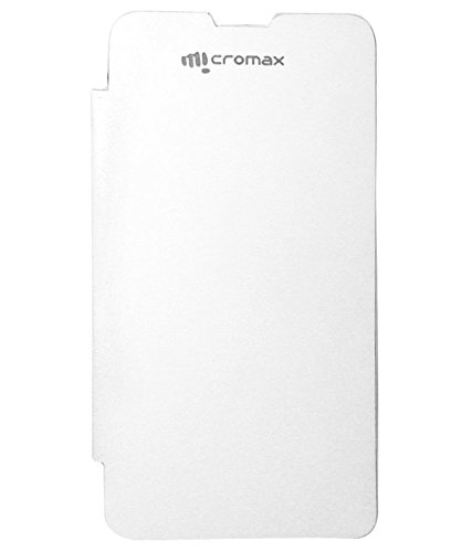 Evoque Flip Cover For Micromax Canvas Juice A177 -White  available at amazon for Rs.149