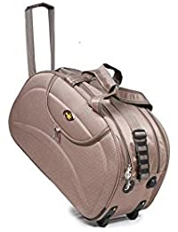 "Falcon Plus Fabric 13.5Cms Gold Travel Trolly /Travel Bag / Luggage Bag / Tourist Bag / Rimzim Duffle Bag - 20"""