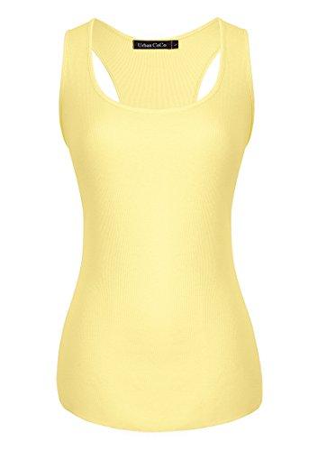 Urban CoCo - Canotta - Basic -  donna Yellow