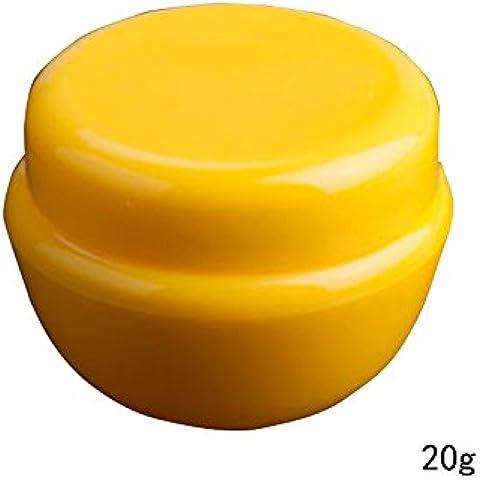 2pcs 20G vacía PP cosméticos almacenamiento contenedores con maletero y tapón de rosca para cremas muestra Make Up almacenamiento amarillo