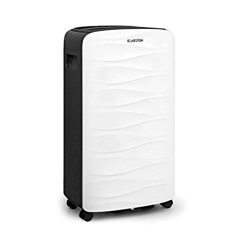 Klarstein DryFy 16 Luftentfeuchter • 255 Watt • 2 Liter Wassertank • Entfeuchtungsleistung von 16 Litern pro Tag • programmierbare Zielluftfeuchte • für 25-35 m² (bis 85 m³) Raumgröße • weiß-grau