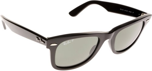 Ray Ban Rb2140 Original Wayfarer Black / Green (Polarized) Kunststoffgestell Sonnenbrillen, 54mm