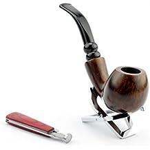 A.P. Donovan - set tabacco da pipa fatta di radica di legno - a mano - colore può variare (con fischio-vetro), per i filtri 9mm e intenditori - Ixtab
