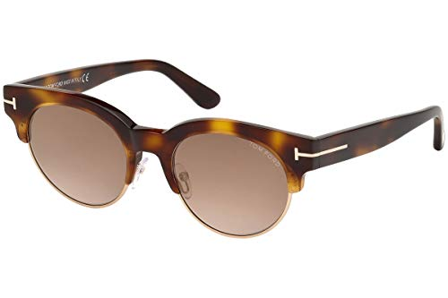 Tom Ford FT0598 Henri-02 Sonnenbrille Havana Blond Mit Braunen Gläsern 53G TF598 FT598