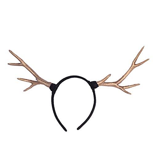 Kapmore REH Geweih Haarreif Rentier Bambi Haarreif Party Stirnband Nettes Geweih Haarband Kostüm Stirnband für Halloween Weihnachten (Bambi Kostüm Halloween)