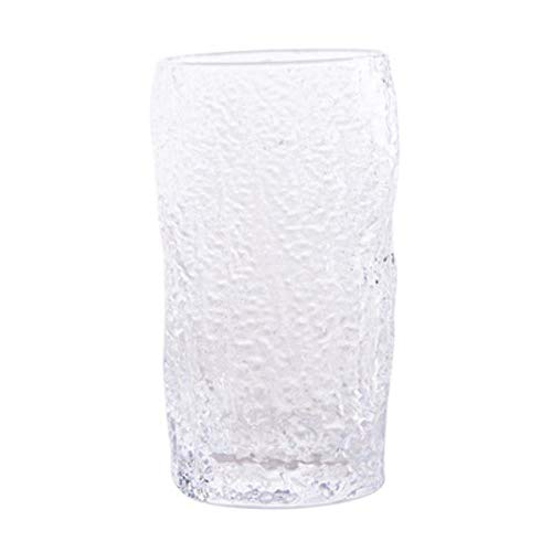 GHGYUF Bark Grain Glass Drinking Glasses for Water Juice Beer Wine and Cocktails Cocktail Glasses,Tall Type -
