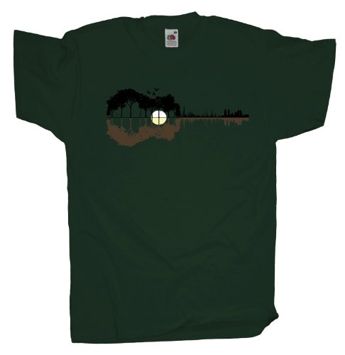 Ma2ca - Sounds from the Woods Herren T-Shirt | Musik Gitarre Band Shirt Bottle Green