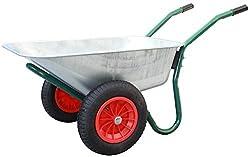 TrutzHolm® 2-Rad Schubkarre BasicPlus Metallwanne feuerverzinkt Gartenschubkarre Schiebkarre Gartenkarre 100l 160kg