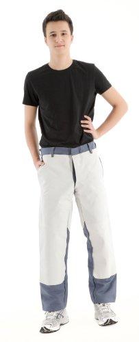 Schweißerhose - Schweißerschutzkleidung Hose Größe 44, Lederbesatz, Arbeitshose Schweißer