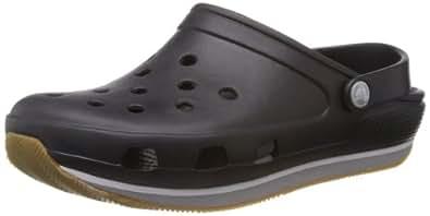 Crocs Retro, Unisex-Adults' Clogs, Black (Black/Light Grey), 3 UK Men/4 UK Women