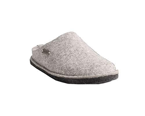 Haflinger Unisex-Erwachsene Flair Soft Pantoffeln, Grau (Steingraumeliert 84), 39 EU