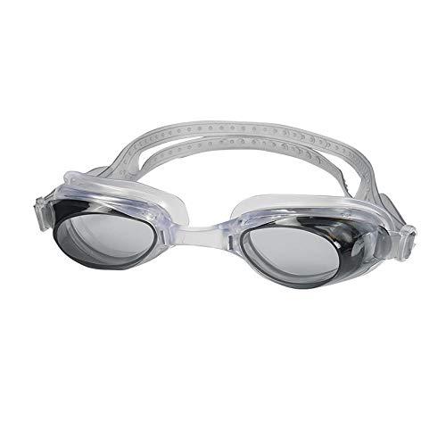 LBXMLX Unisex Glasses, no Leakage, Anti-Fog, Anti-UV, 180 Degree Vision and Soft Silicone Nose Beam Swimming Goggles, Men's and Women's Children@Black