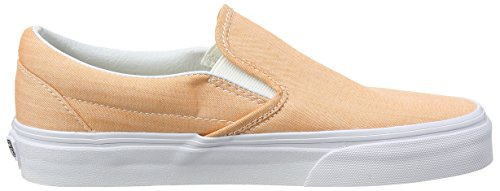 Vans Authentic, Sneakers Basses Mixte Adulte Orange (Chambray/Coral/True White)