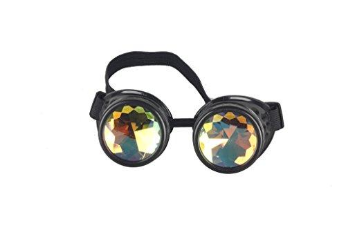 DODOING Kaleidoscope Goggles Kaleidoskop Brillen Weinlese-Art Gotische Retro Steampunk Cosplay Brille Rainbow Glasses Welding Punk Brille