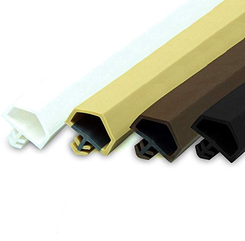 Gummidichtung Dichtungen aus Gummi Tür Fenster Profildichtung Universal Dichtband Holzzargendichtung Flügelfalzdichtung Dichtungsprofil (20 Meter, Weiß)
