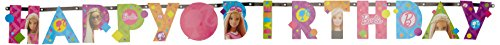 amscan 999936 1 m x 11 cm Barbie Sparkle Happy Birthday Letter Banner (Halloween Barbie Box)