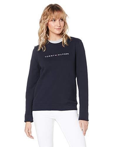 Tommy Hilfiger Damen Sweatshirt Marine (52) XL (Sweatshirt Frauen Hilfiger Tommy)