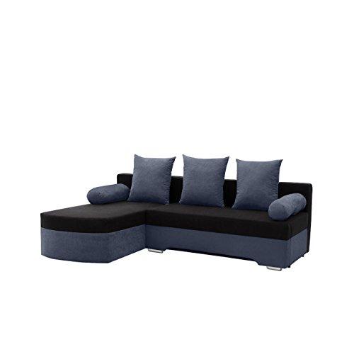 Ecksofa Smart! Sofa Eckcouch Couch! mit Schlaffunktion und Bettkasten! Ottomane Universal, L-Form Couch Schlafsofa Bettsofa Farbauswahl (Alova 24 + Alova 04)