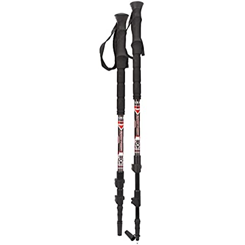 Yukon Charlies Carbon Trekking Pole with Fast Lock System, Red by Yukon Charlie's