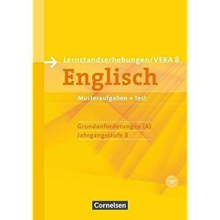 Vorbereitungsmaterialien für VERA - Englisch / 8. Schuljahr: Grundanforderungen - Arbeitsheft mit Audio-Materialien