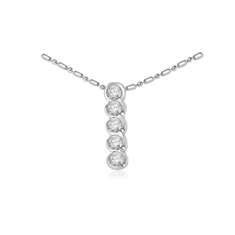 0.40ct F/VS1 Diamond Pendant for Women with Round Brilliant Diamonds in 18ct White Gold with Necklace