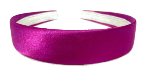 aliceband - bunte Ebene 2.5cm breit Satin Haarband Haarreif[rosa]