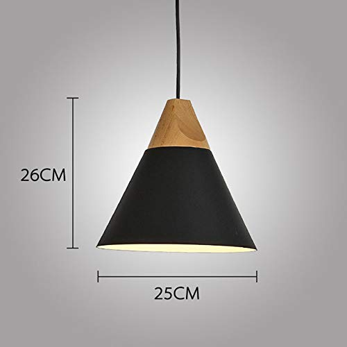 Holz Pendelleuchten Multicolor Aluminium Lampenschirm PendantCheap LED Indoor Wandleuchten Fashion Frosted