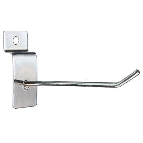 cosmall-4-x-pack-slatwall-hook-single-arm-retail-shop-display-fitting-prong-chrome-accessories-hooks