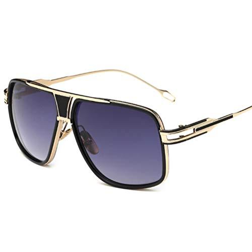 WYJW Damen Sonnenbrille Mode Vintage Metallrahmen Paar Brille Runde Sonnenbrille UV-Schutz Sonnenbrille (mehrere Farben)
