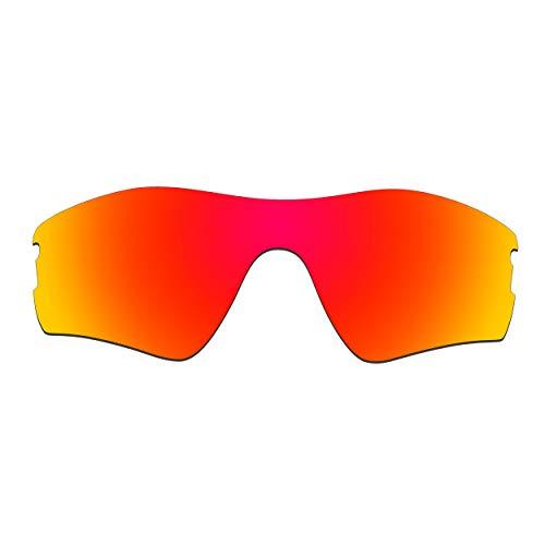 HKUCO Verstärken Ersatz-Brillengläser für Oakley Radar Pitch Sonnenbrille Rot Polarisiert