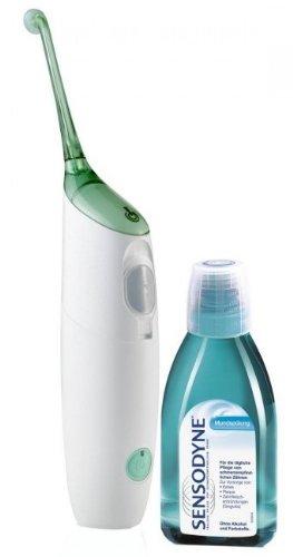 Philips Sonicare HX8211/02  AirFloss, Gerät zur elektrischen Zahnzwischenraumreinigung, weiß, Vorteilspack mit Mundspülung