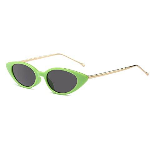 c9aba6dba58af7 Inlefen Rétro petit modèle vintage ovale de mod de lunettes de soleil  d oeil de chat ovale pour des femmes