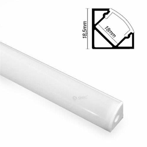 GSC garsaco–Aluminium Profil durchscheinend Winkel für LED Streifen GSC 1501544–GSC 1501544