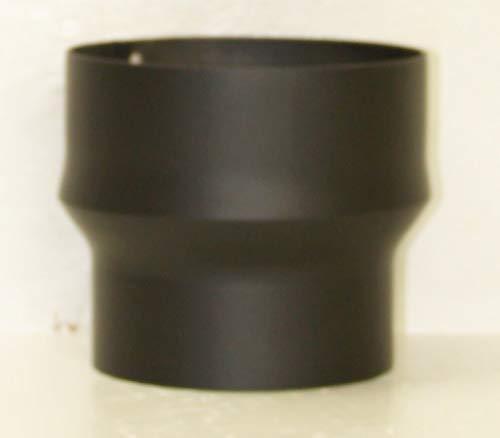 LANZZAS Rauchrohr Ofenrohr Kaminrohr Erweiterung Stahl Farbe schwarz Ø 120 mm auf Ø 150 mm -