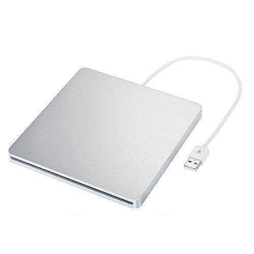 Blingco Externes CD Laufwerk Slim USB 2.0 Slot-in DVD RW Brenner, Portable Writer