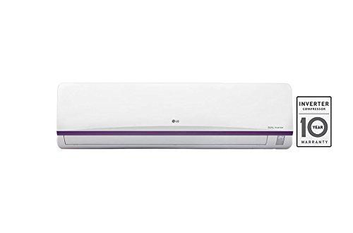 LG JS-Q18BUXD Dual Inverter Split Air Conditioner (1.5 TON, 3 Star Rating, White, Copper )
