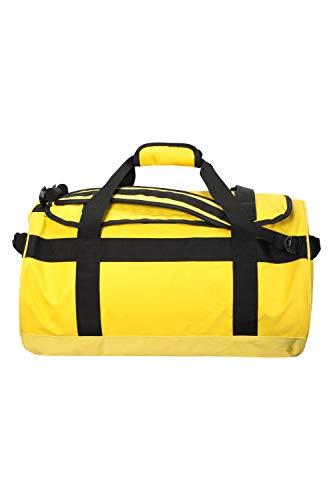 Mountain Warehouse 60-l-Transporttasche – Tages-/Rucksack, 3 Tragemöglichkeiten, robuste Riemen, Taschen, weiche Griffe, 1 Fach – für Reisen, Camping, Festivals, Frühling Gelb (3-tages-rucksack)
