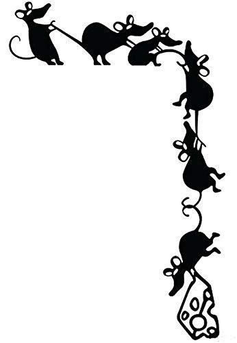 Wandtattoo Wohnzimmer Wandtattoo Schlafzimmer 2 Stück lustige kletternde Mäuse Käse Diebe Ratte Silhouette Aufkleber