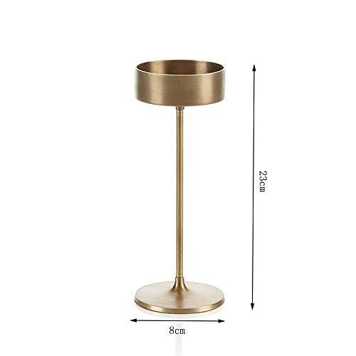 XQY Retro Kerzenständer Dekoration Kerzenhalter Legierung Material Gold Farbe Romantische Mode Haushaltsgegenstände (8 * 23 cm)