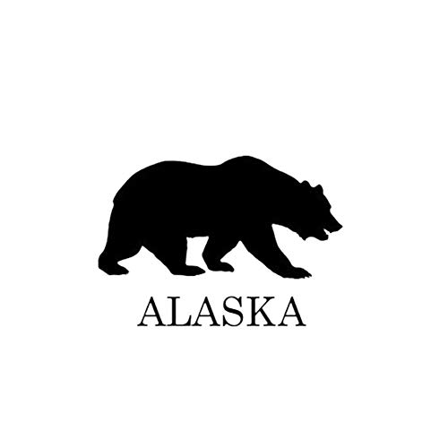 MKeDa 5 Stück Alaska Bär Auto Aufkleber Eisbär reflektierende Aufkleber -