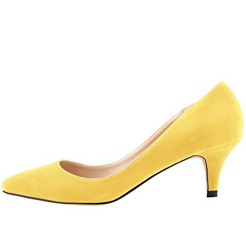 OCHENTA - Sandali con Zeppa donna Giallo (giallo)