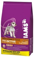 Iams ProActive Health Complete and Balanced Senior Dog Food with Chicken for All Breeds, 12 kg