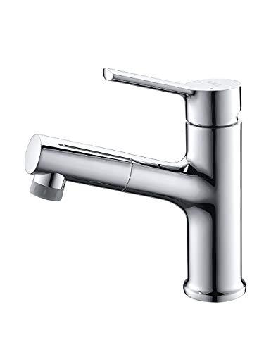 Umi. By Amazon - Armatur Bad 2 Strahlarten Wasserhahn mit ausziehbarem Brause Waschbecken Mischbatterie Waschbeckenarmatur