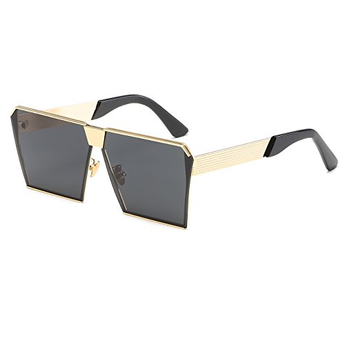 CVOO Personalise Oversize Shield Vintage Square Sunglasses