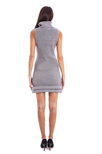 LAVAND. 124C8-4-1 Kurtzes Kleid Damen grau GY
