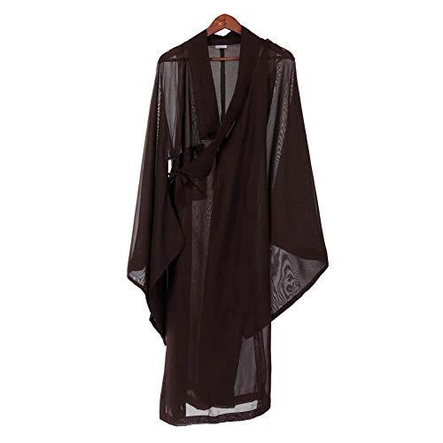 buddhistische Mönchen-Kostüm Zen Stoff Hanf Tunika Zen Buddhismus Meditation Anzug Langer Mönchen Meditation Mönchen 36# (Buddhistische Kostüm)