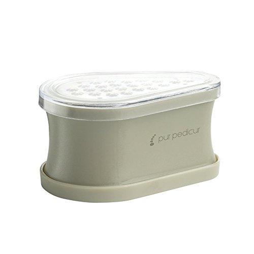 PUR PEDICURE Râpe / Coupe-cors anti-callosités pour les pieds - Gris - 8 x 5.5 x 4.4 cm