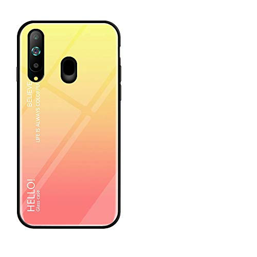 Forhouse Samsung Galaxy A8S Hülle, Creative Design Yellow Protector Back Hülle with Anti Scratch Edge Protection Cover für Samsung Galaxy A8S
